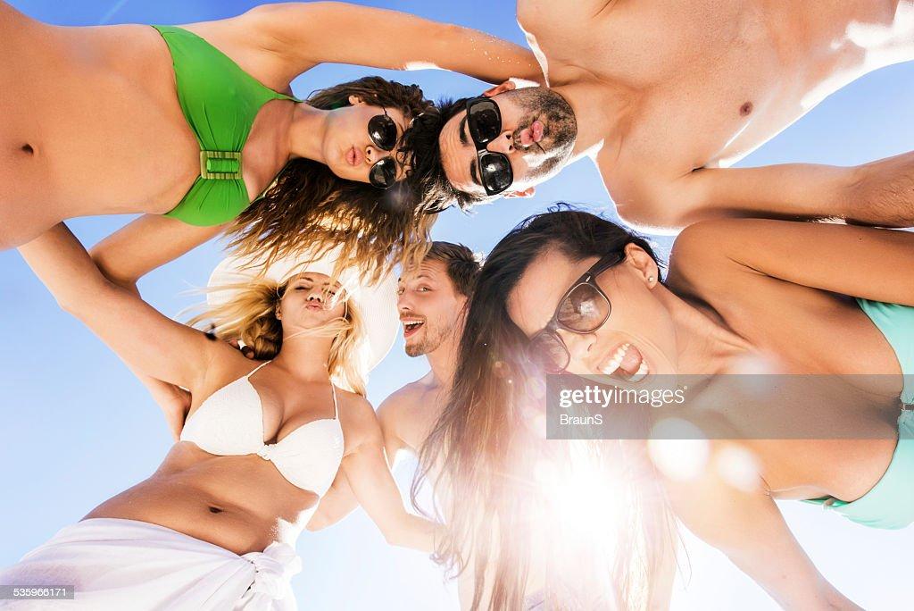 Friends having fun in summer. : Stock Photo