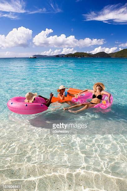 friends having fun on spring break vacation in the Caribbean
