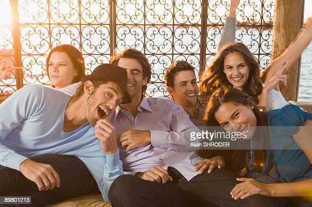 Friends having fun on vacation