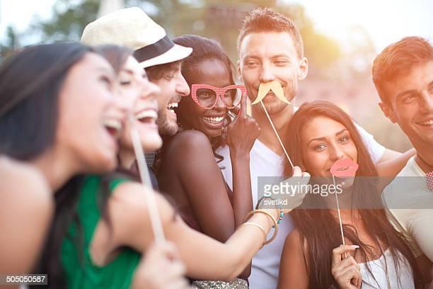Friends having fun outdoors.