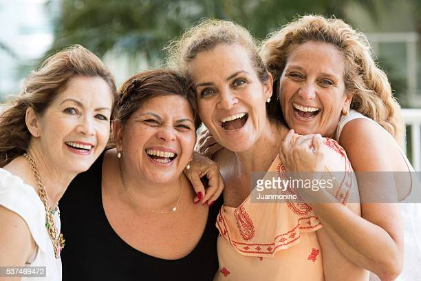 friends having fun - only mature women stock pictures, royalty-free photos & images