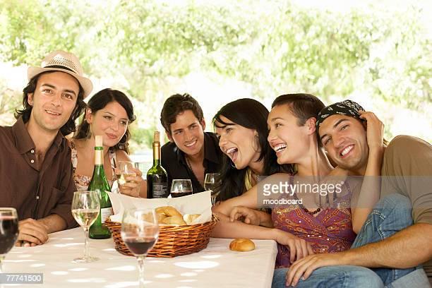 Friends Having Meal