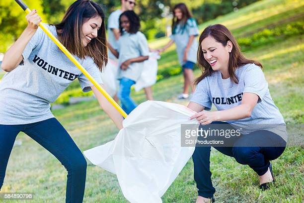 Friends help in community clean up