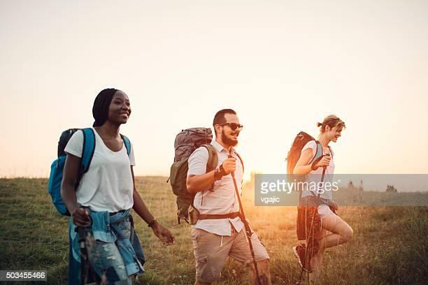 Freunde Wandern In der Natur
