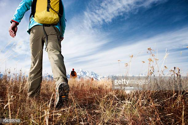 Friends Hiking in Wilderness