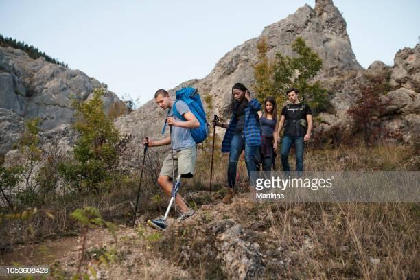 Friends hiking