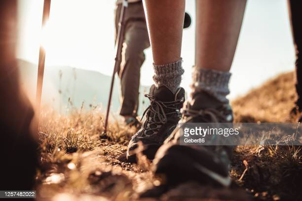 friends hiking - hiking boot stock pictures, royalty-free photos & images