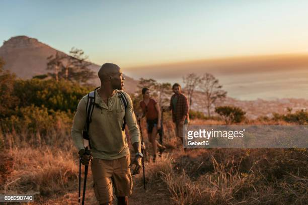 friends hiking - south africa stock pictures, royalty-free photos & images
