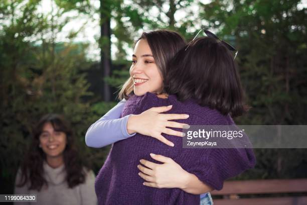 friends hugging - eskisehir stock pictures, royalty-free photos & images