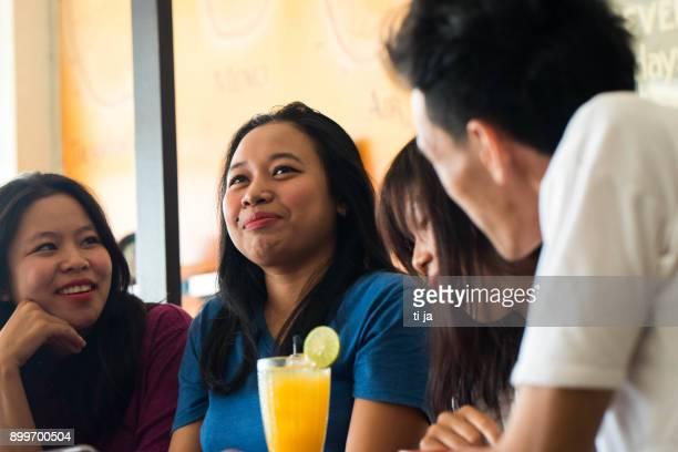 Friends in a caffe