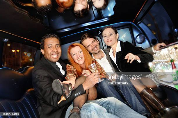 Friends in a Limo