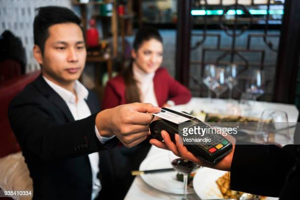 Friends in Chinese restaurant