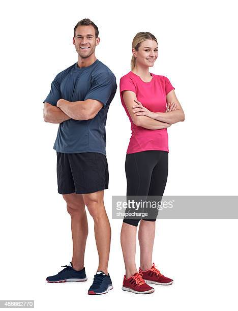 friends in fitness - sports clothing stock pictures, royalty-free photos & images