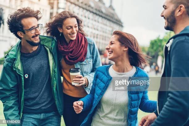 Friends in London city