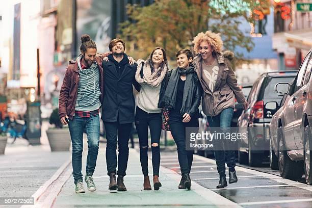 Amis dans la ville de New York