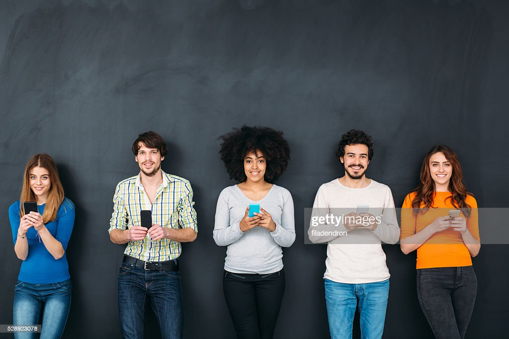 Friends in Social Network Concept : Stock Photo