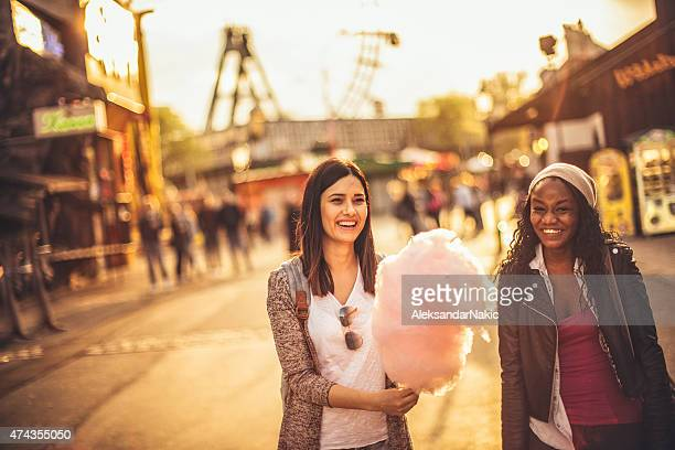 friends in the amusement park - traditional festival stock pictures, royalty-free photos & images