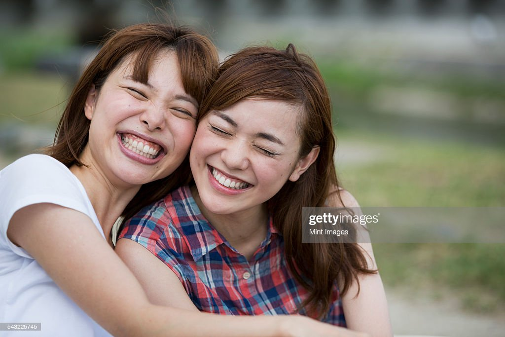 Friends in the park. : Stock Photo