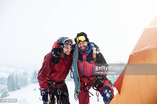 2 friends in the swizz alpes
