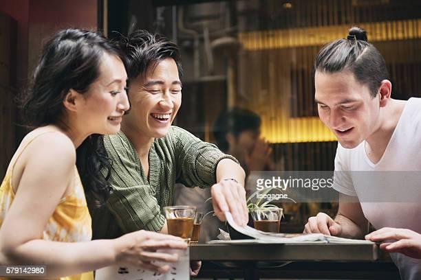 Friends in Tokyo on a terrace