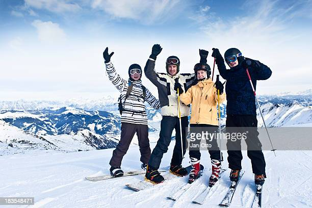 Friends in winter vacation