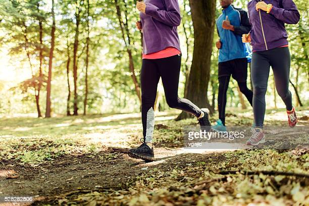 Friends Jogging In The Nature