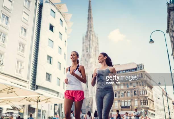 Freunde, Joggen in Wien