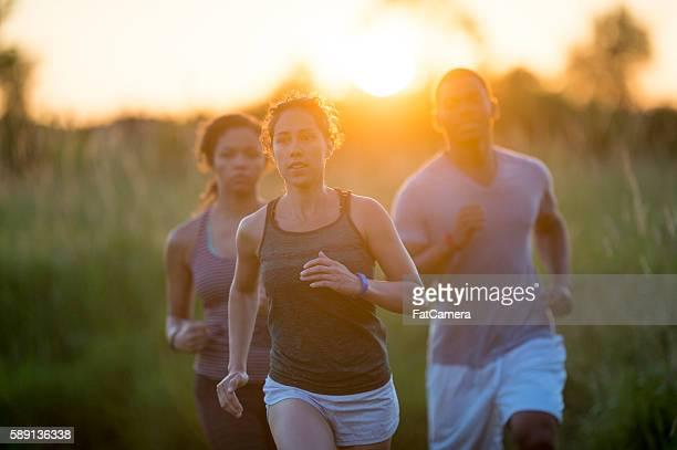 Friends Jogging on a Summer Evening