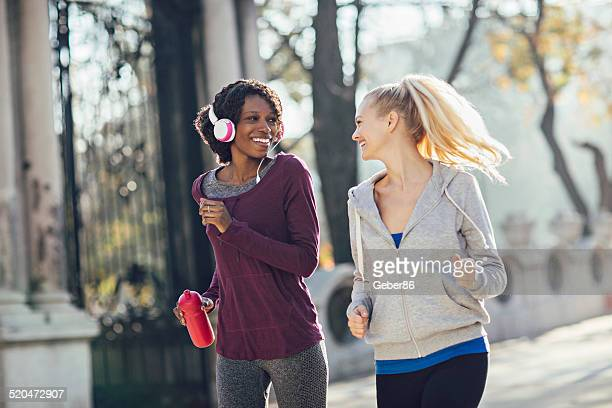 Friends jogging