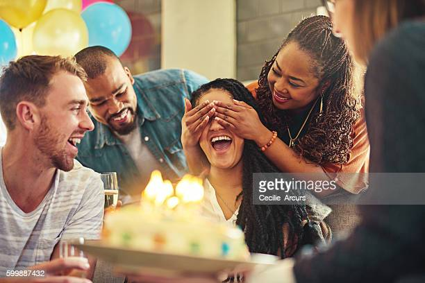 friends know just how to make you feel special - happy birthday stock pictures, royalty-free photos & images