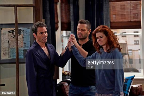 WILL GRACE Friends Lover Episode 104 Pictured Eric McCormack as Will Truman Nick Offerman as Jackson Boudreaux Debra Messing as Grace Adler
