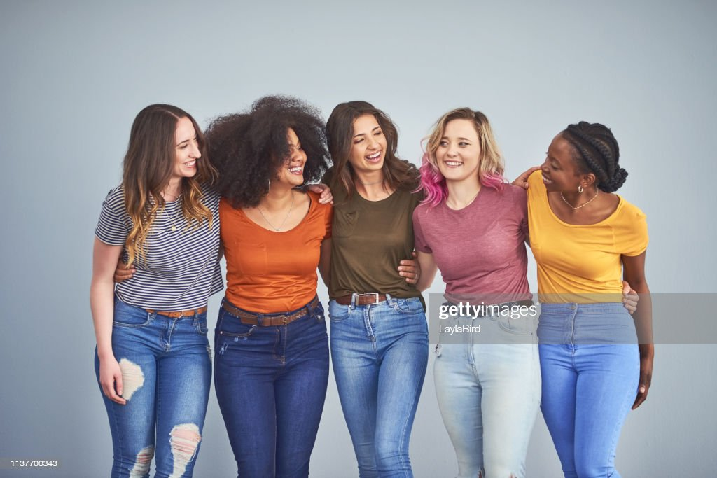 Friends make the world a happier place : Stock Photo