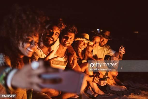 Friends making a selfie