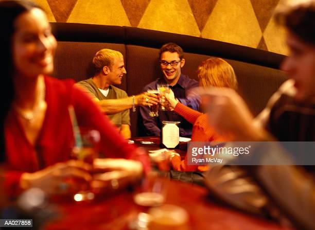 Friends Making a Toast in Bar