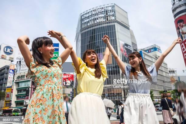 ミーティング、ご友人とご一緒に、東京の渋谷ショッピング街
