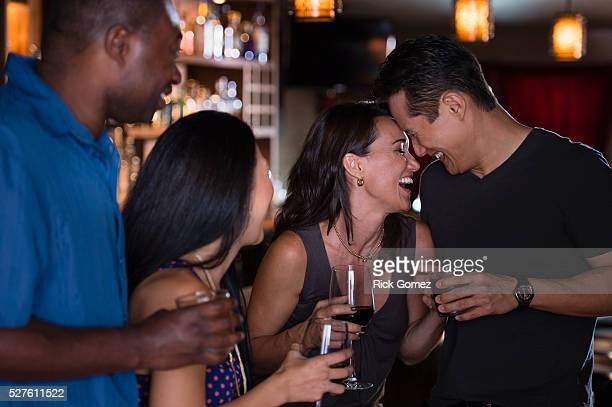 friends night out - seduction stock pictures, royalty-free photos & images