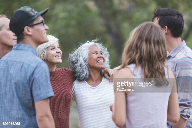 friends of all ages - community stock pictures, royalty-free photos & images