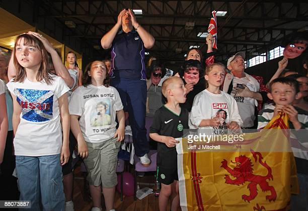 Friends of Susan Boyle react at Blackburn community centre as they hear the final resultsof Britain's Got Talent on May 30 2009 in Blackburn Scotland...