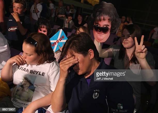 Friends of Susan Boyle react in disappointment at Blackburn community centre as they hear the final resultsof Britain's Got Talent on May 30 2009 in...