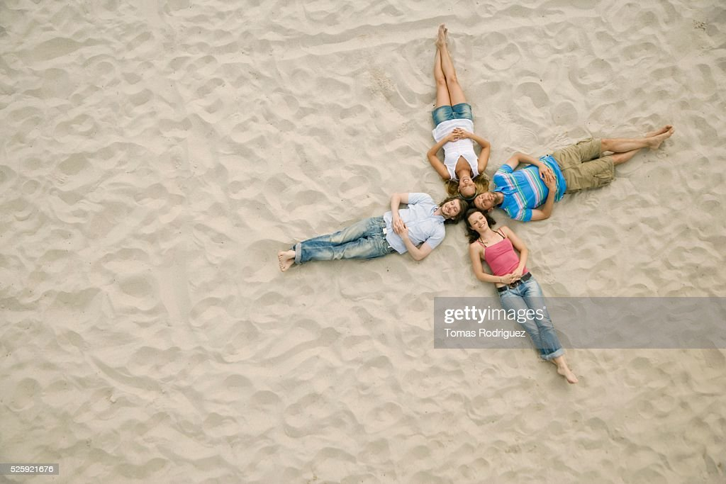 Friends on a Beach : Stock Photo