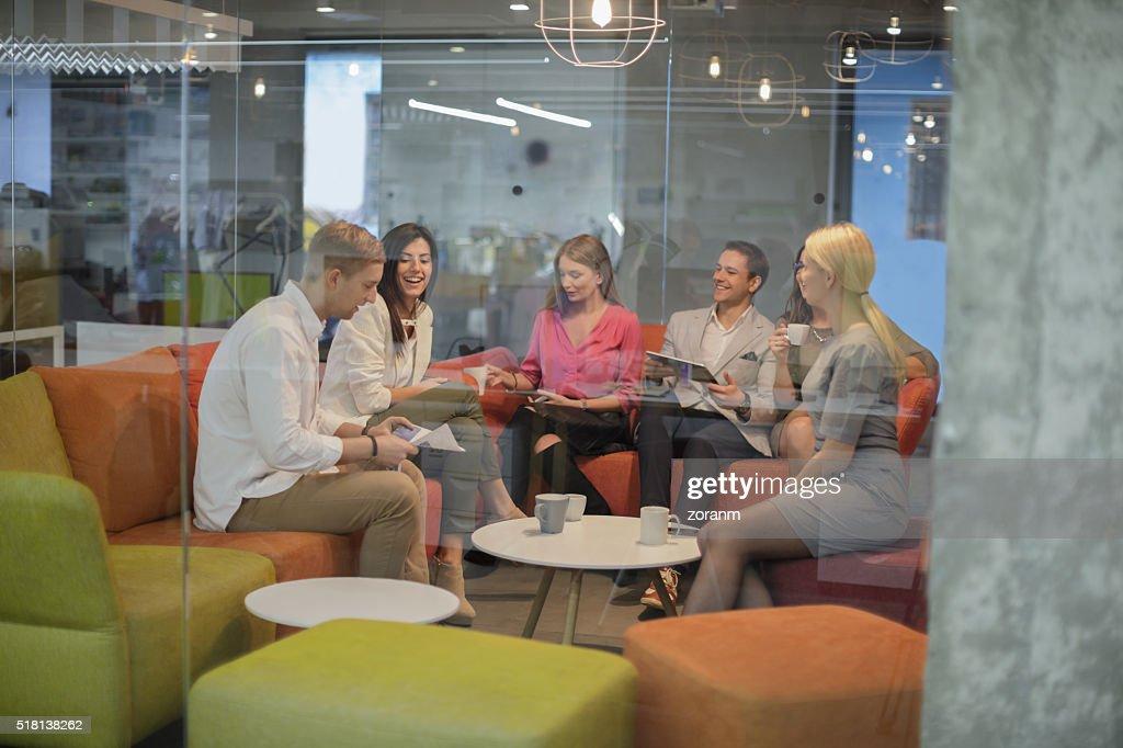 Friends on a break : Stock Photo