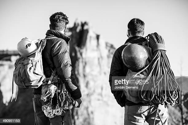 Friends on a rock climbing trip.