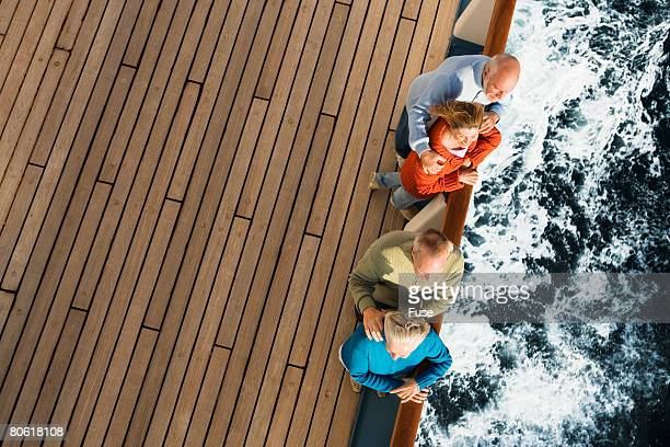 Friends on Cruise Looking at the View