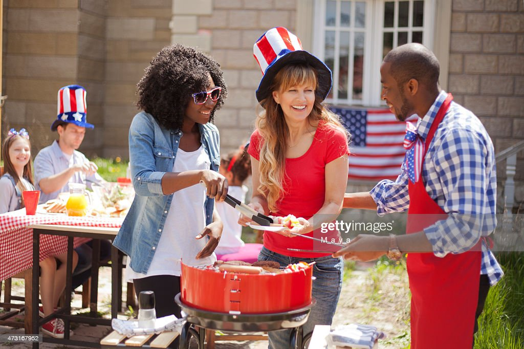 Friends on Independence Day : Stock Photo