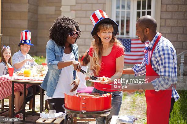 friends on independence day - independence day stock pictures, royalty-free photos & images