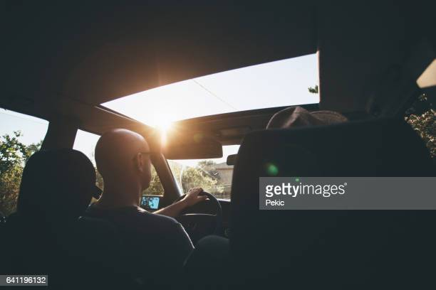 Friends on road trip