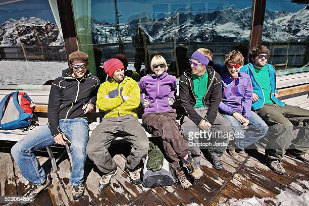 Friends on ski holiday