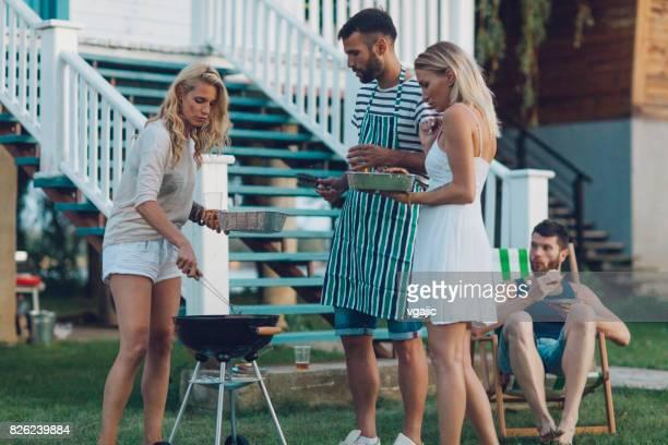 Freunde auf Sommerfest