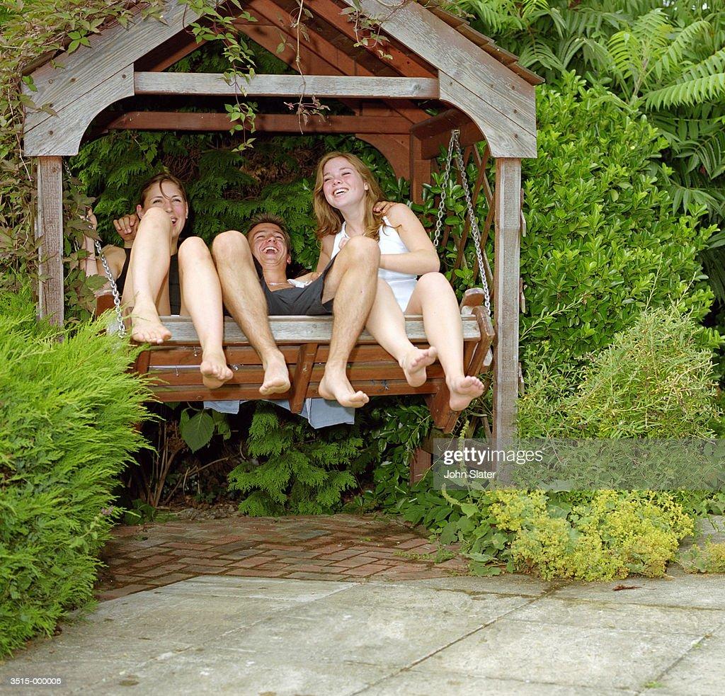 Friends on Swing : Stock Photo
