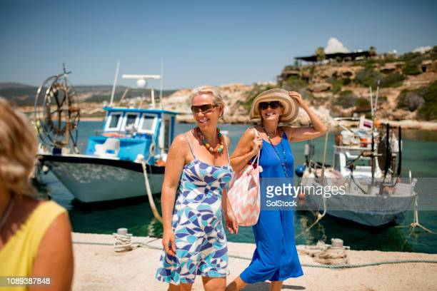 friends on vacation - cyprus island stock pictures, royalty-free photos & images